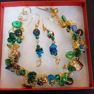 OOAK Crochet Wire Bracelet